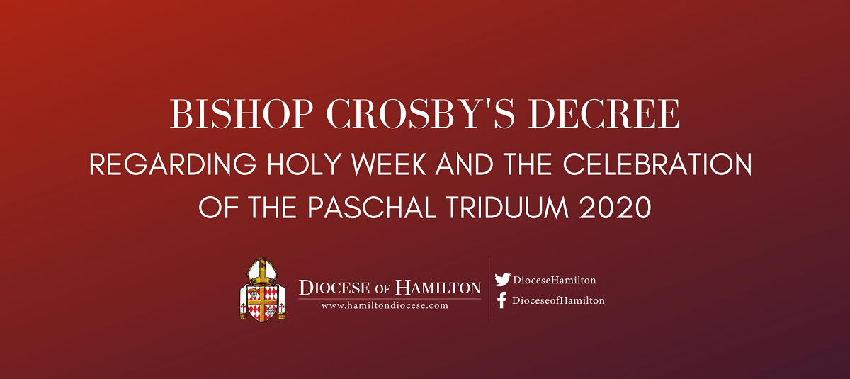 Decree regarding Holy Week and the Celebration of the Paschal Triduum