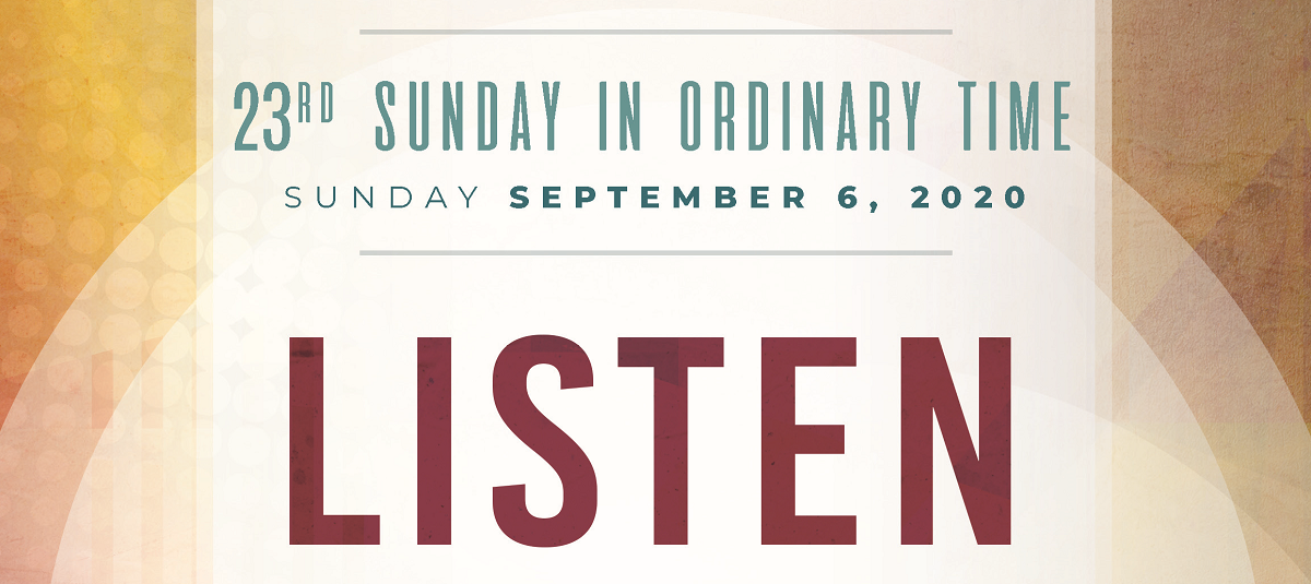 Sunday Homily, September 6, 2020